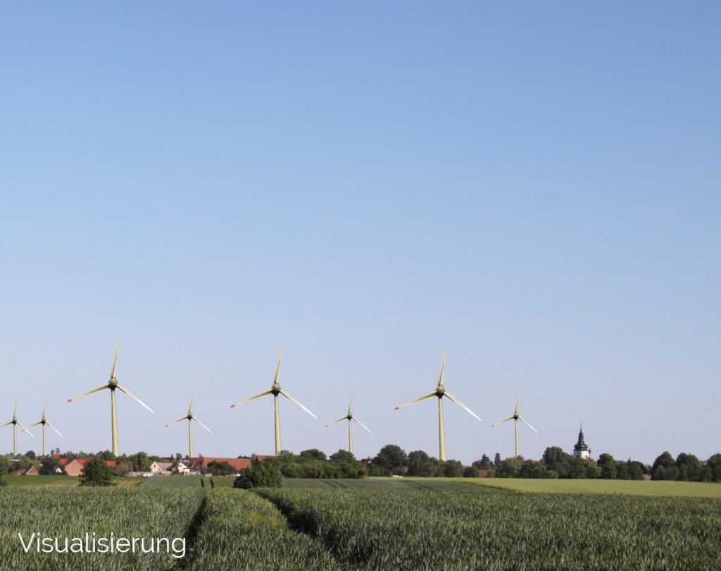 Visualisierung Windräder - Königshofen